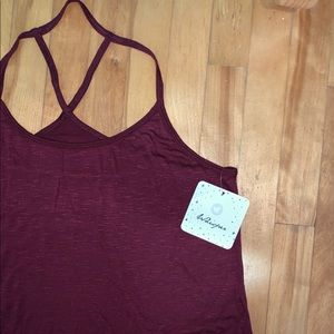 NWT - Wine Workout Top - Whisper